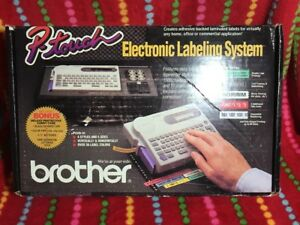 Brother P touch Electronic Label Maker Printer Pt 25 Vintage New In Box Rare