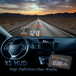 Universal Car Gps Hud Obd2 Head Up Display Speedometer Mph Km H Overspeed Alarm