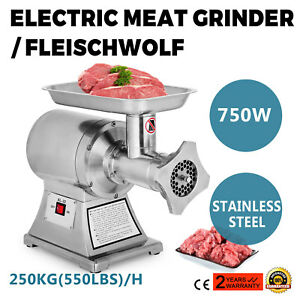1hp Commercial Meat Grinder Sausage Stuffer Electric Stainless Steel Automatic
