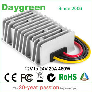 12v Step Up 24v 20a Boost Dc Dc Converter 20amp 480w Car Voltage Regulator Us