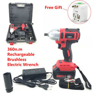 360n m 68v Rechargeable Brushless Electric Impact Wrench Cordless 7800ah Battery