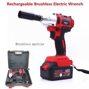 68v Rechargeable Brushless Electric Impact Wrench Cordless 360n M 7800ah Adaptor
