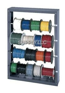 Work Shop Wire Spool Storage Rack Cold Rolled Steel Welded Vehicle Wall Mount