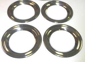Nos Gm 1954 55 Chevy Deluxe Chrome 3 1 2 Wide Beauty Trim Ring 15 Wheel Covers