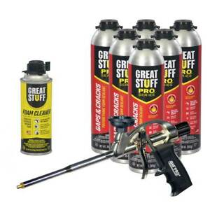 Dow Great Stuff Pro Gaps And Cracks 30 Oz Cans 6 Awf Pro Foam Gun Cleaner