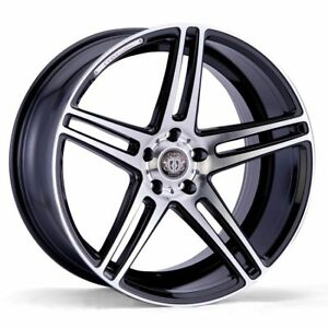 18x8 5x108 Curva C5 Black Machine Made For Ford Jaguar Volvo
