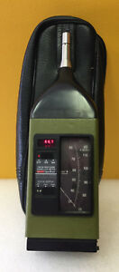 General Radio 1981b 30 80 70 120 Db Sound Level Meter Mic Case Tested