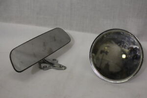 Lot Of 2 Vintage 1966 Original Chevrolet Round Side View rear View Mirrors