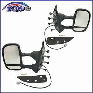 New Pair Of Power Folding Mirrors For Ford E 350 Super Duty