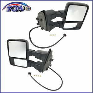 New Pair Of Power Heated Folding Mirrors For 09 10 Ford F 250 Super Duty