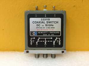 Hp Agilent 33311b 011 Dc To 18 Ghz 1 W Sma f Spdt Coaxial Switch Tested