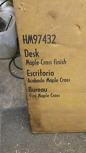Work Play Desk Hm97432 Maple Cross Finish C 112091 Assembly Required