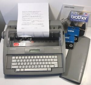 Brother Sx 4000 Portable Electronic Typewriter Lcd Display Manual Ribbon Daisy