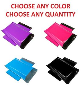 12x15 5 Color Poly Mailers Shipping Envelopes Self Sealing Mailing Bags 12 x15