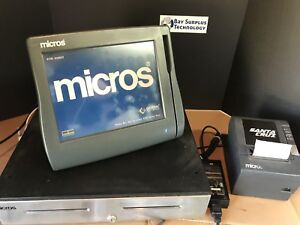 Micros Workstation 4 Lx System Unit 400714 001 Tm 188iv Printer And Cash Drawer