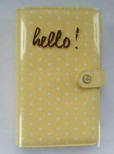 Websters Pages Color Crush Personal Planner Kit Yellow Dot Agenda Organizer New