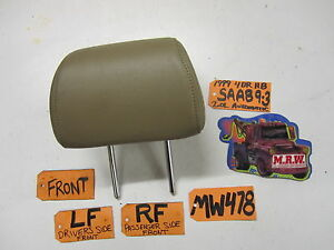 Front Seat Headrest Head Rest Tan Leather Car 99 00 01 02 03 Saab 9 3 Right Left