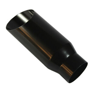 Black 3 Inlet 4 Outlet Stainless Steel Exhaust Tip 12 Long