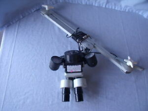 Lighted Binocular Microscope With Folding Arm And Swf20x Eyepieces1 5 Mds l