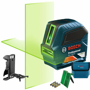 Bosch Gll 100 Gx rt Recon Self leveling Green beam Cross line Laser 8x