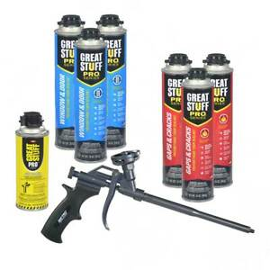 Dow Great Stuff Pro 3 Cans Gaps Cracks 3 Cans Window Door Teflon Gun