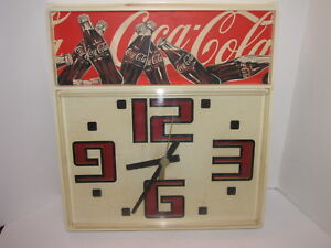 COCA COLA CLOCK COKE R.J. REYNOLDS BATTERY OPERATED