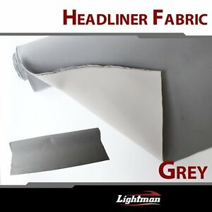 60 x85 Grey Auto Headliner Upholstery Fabric With Foam Backing Replace Sagging