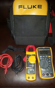 Fluke 117 323 Multimeter And Clamp Meter Combo Kit free Shipping