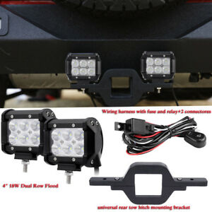 18w Led Dual Row Reverse Light tow Hitch Mount Bracket For Jeep Ford Suv Truck