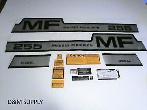 Massey Ferguson 255 Decal Set With Caution Kit With Speed Chart 1215 1028