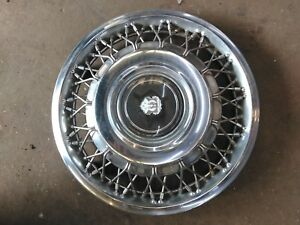 1985 88 Oldsmobile Ninety eight Wire Spoke Hubcap Wheel Cover Gm Oem 25527327
