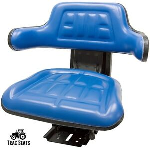 Blue Hesston 2000 3000 4000 5000 6000 7000 Waffle Style Tractor Suspension Seat