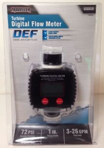 Traveller Turbine Def Digital Flow Meter 1289390 New