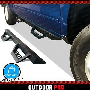 07 19 Fit Chevy Silverado Crew Cab Triangle Nerf Bar Running Boards Side Step