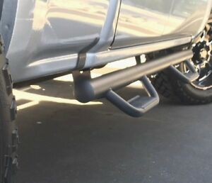 07 18 Fit Chevy Silverado Extended Cab Hoop Running Boards Side Steps Rail Matte