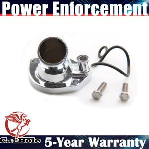 New Chrome Thermostat Housing Water Neck For Ford V8 289 302 351w 45 Degree