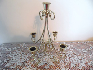 Vintage Retro Gold Tone Ornate Candelabra Candle Display Romantic Victorian