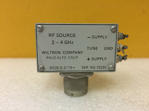 Wiltron 6200 s 2115 2 To 4 Ghz Type N m Rf Source Tested