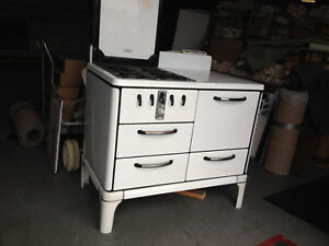 Antique White Gas Cook Stove 1930 S Roper