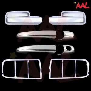 Aal Ford 05 06 07 08 09 Mustang Chrome Full Mirror Door Handle Taillight Cover