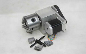 3 jaw 80mm Cnc Router Rotary Axis 4th Axis For Cnc Router Engraving Machine