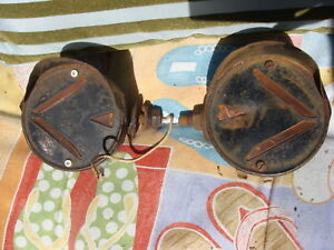Vintage Antique Pair Of Turn Signals For Truck Or Car Ready To Install