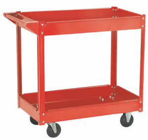 Roller Utility Cart With Wheels Heavy Duty Metal On Large Rolling Auto Body Shop