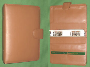 Compact 1 0 Caramel Brown Leather Dopp Planner Binder Franklin Covey 9438