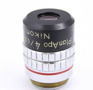 Nikon Cfn Planapo 4x 0 20 160 Microscope Objective Optiphot Labophot Plan Apo