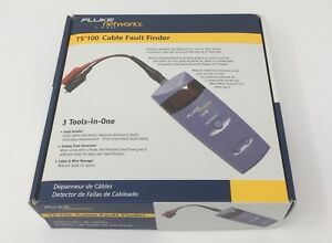 New Fluke Networks Ts100 Cable Fault Finder Bnc Banana Abn Clips 26500500