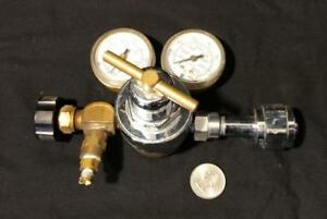 2 stage Scott 5120b540 Inert Gas Compressed Air Pressure Regulator 2 Gauges