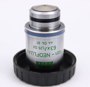 Zeiss Plan Neofluar 63x 1 25 Oil Ph3 Microscope Objective 440461 Phase Contrast