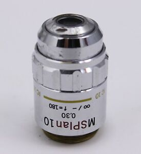 Olympus Ic 10 Msplan 0 30 F 180 Microscope Objective Lens 10x M S Plan