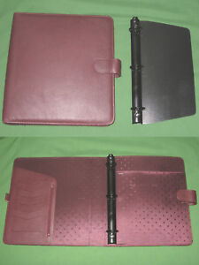 Monarch 1 25 Red Leather Franklin Covey Planner 8 5x11 Binder Organizer 038